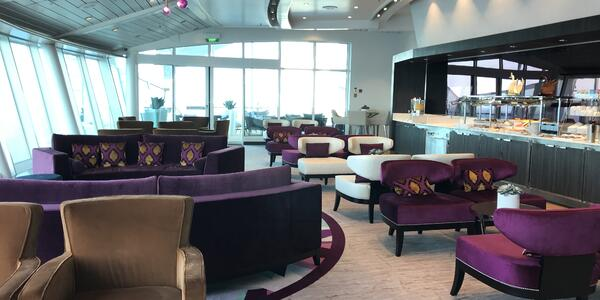 Voyager of the Seas Suite Lounge (Photo: Tiana Templeman)