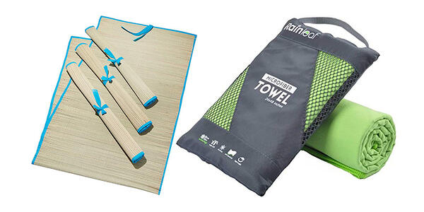 Beach Mats and Quick-Dry Packable Towel (Photo: Amazon)