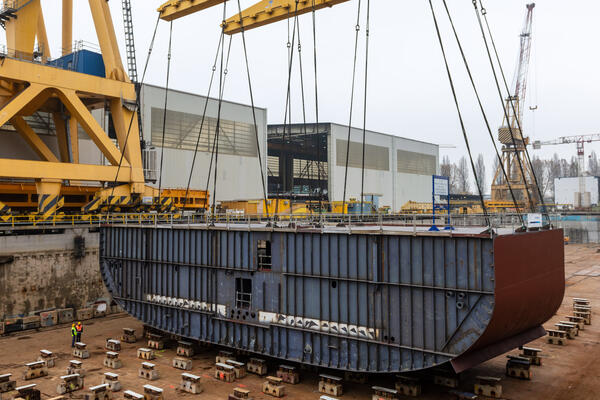 Keel laying for Holland America's Ryndam (Photo: Holland America Line)