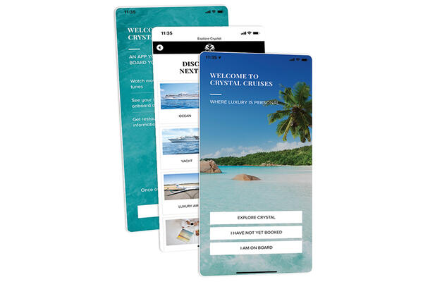 The new self-named phone app from Crystal Cruises (Photo: Crystal Cruises)