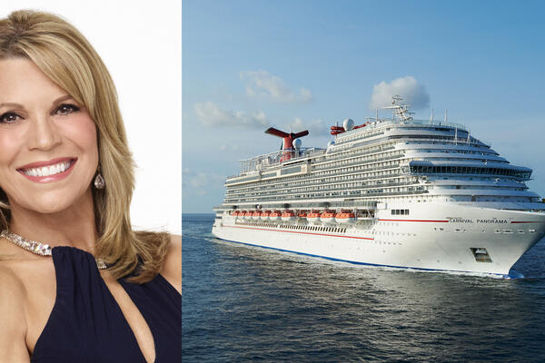 Vanna White (left) to Serve as Godmother for Carnival's Newest Cruise Ship, Carnival Panorama (right) (Photo: Carnival Cruise Line)