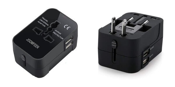 Travel Adapter, JOOMFEEN Worldwide All in One Universal Power Wall Charger (Photo: Amazon)