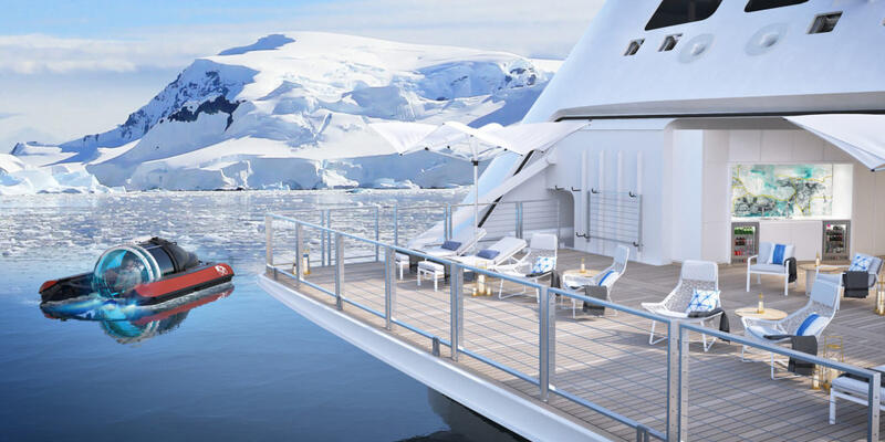 A rendering of the submarine for Crystal Endeavor (Photo: Crystal Cruises)