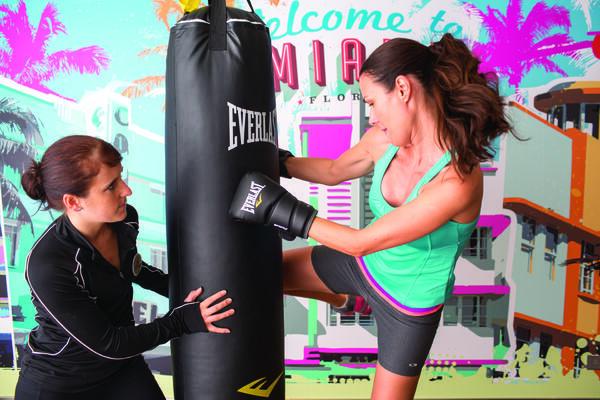 Fight Klub cardio kickboxing on Norwegian Cruise Line (Photo: Norwegian Cruise Line)