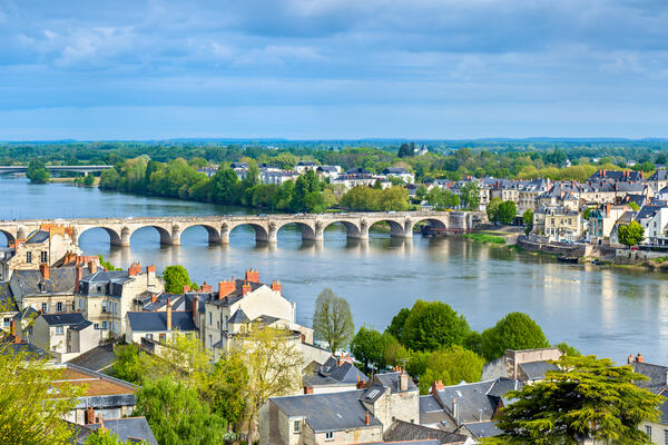 Panorama of Saumur on the Loire River in France (Photo: Leonid Andronov/Shutterstock)