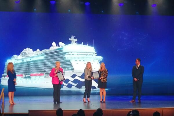 The christening ceremony for Princess Cruises newest ship, Sky Princess in Fort Lauderdale, Florida on Dec. 7, 2019 (Photo: Dori Saltzman)