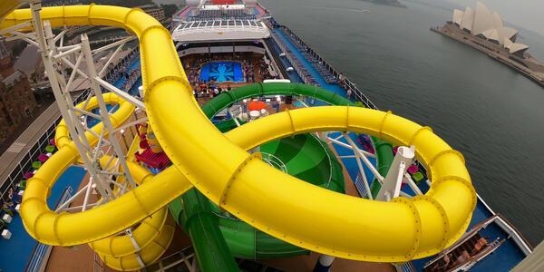 Carnival Splendor waterslides (Photo: Tim Faircloth)
