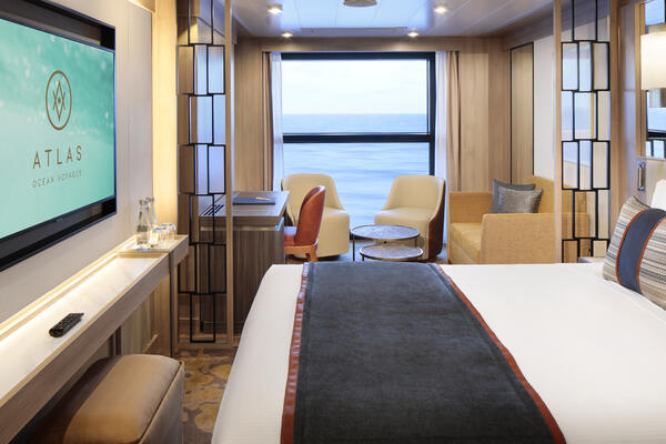 Interior shot of the Horizon Stateroom on World Navigator