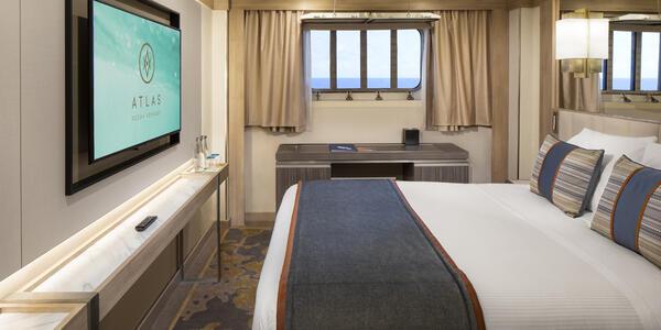 Interior shot of Adventure Stateroom on World Navigator