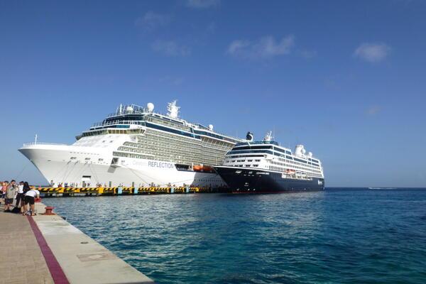 Celebrity Reflection docked along side Azamara Journey (Photo: Maverine/Cruise Critic Member)