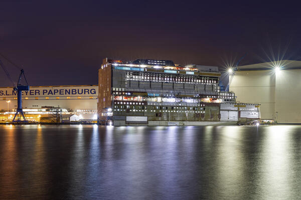 Meyer-Werft shipyard in Papenburg, Germany (Photo: Meyer-Werft)