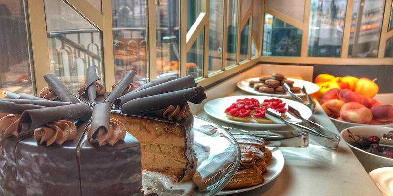 Crystal River Cruises' fabulous food (photo by Carolyn Spencer Brown)