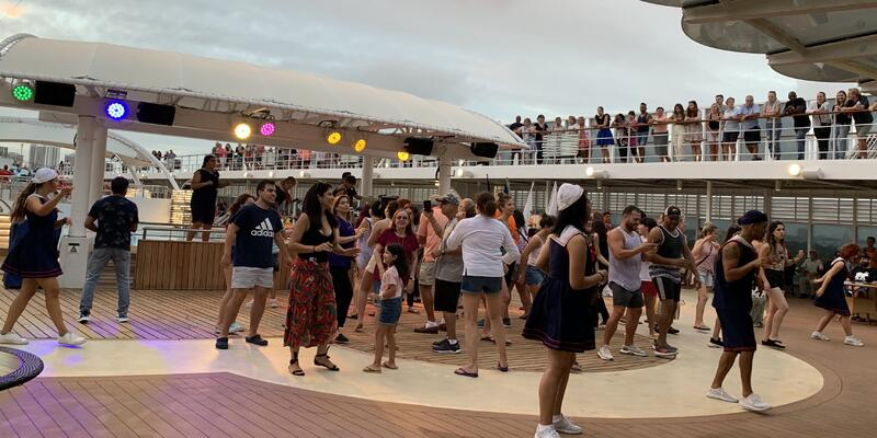 Deck party on MSC Armonia (Photo: Kim Foley MacKinnon/Cruise Critic contributor)