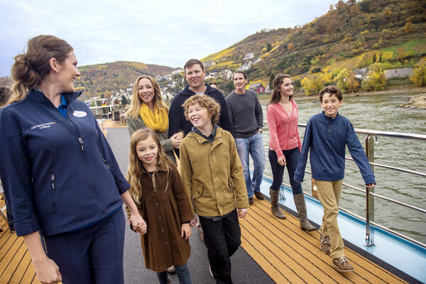 A family travelling on an Adventures by Disney Rhine River Cruises Adventures by Disney Rhine River Cruises (Photo: Adventures by Disney)