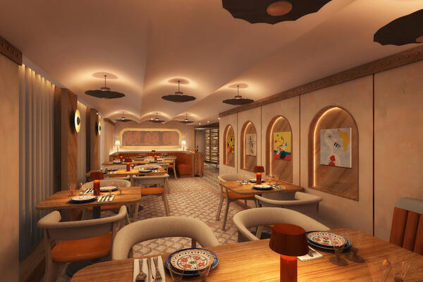 Artist Rendering of Cuadro 44 by Anthony Sasso on Windstar Cruises (Image: Windstar Cruises)