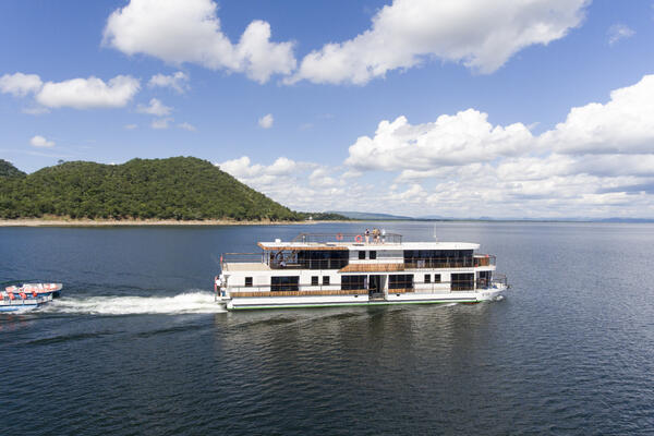 Exterior shot of CroisiEurope's African Dream cruising down a river
