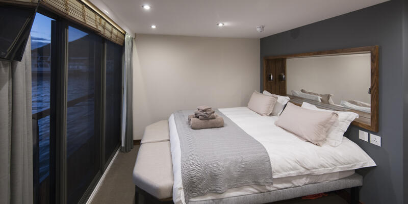 Interior shot of a cabin bed on African Dream