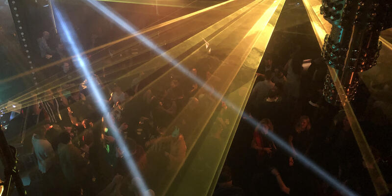 a light show in the manor nightclub