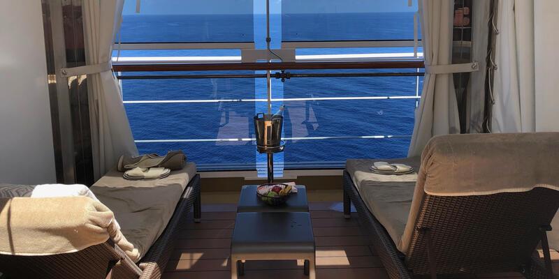 Private cabanas on Nieuw Statendam's Retreat on deck 12 (Photo: Chez Chesak)