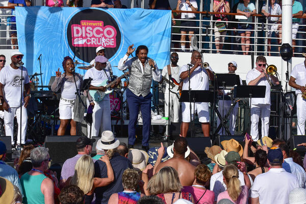 George McCrae on the Ultimate Disco Cruise (Photo: StarVista LIVE)