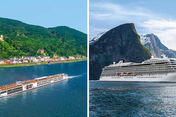Viking river and ocean ship