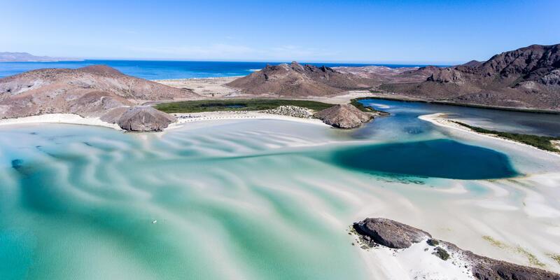 Aerial views from Balandra Beach, Baja California Sur, Mexico (Photo: Leonardo Gonzalez/Shutterstock)