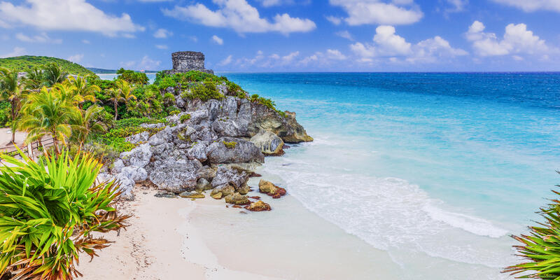 Tulum, Mexico. God of Winds Temple overlooking the Caribbean Sea (Photo: emperorcosar/Shutterstock)