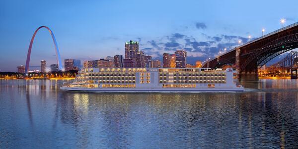 Artist rendering of Viking Mississippi  in St. Louis, Missouri, USA (Image: Viking River Cruises)