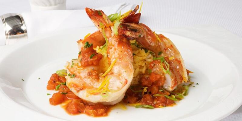 Close-up shot of Seafood dish from Taste of Excellence cookbook