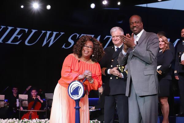 Orlando Ashford with Oprah Winfrey on the