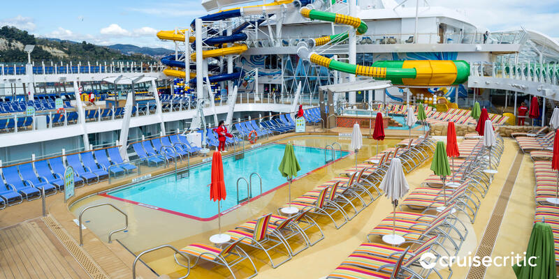 Zoom Background: Pool on Symphony of the Seas (Photo: Cruise Critic)