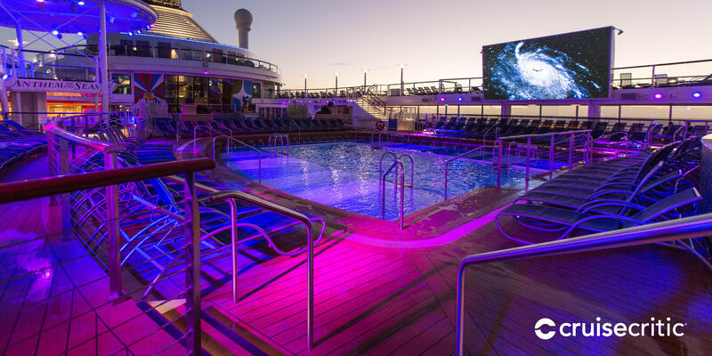Zoom Background: Pool Deck on Anthem of the Seas (Photo: Cruise Critic)