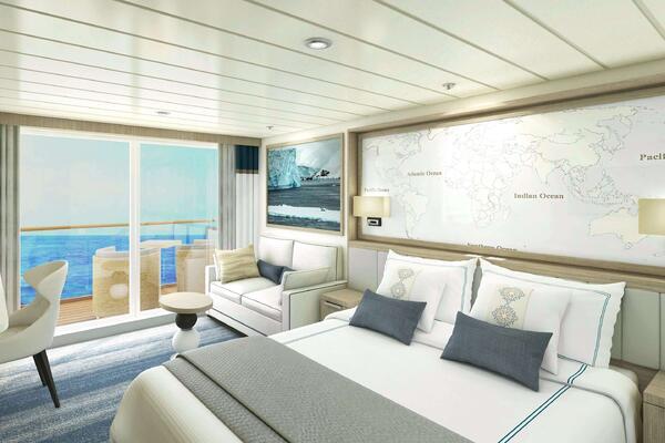 Cabin on Vantage's oceangoing cruise ship (Photo: Vantage Deluxe World Travel)