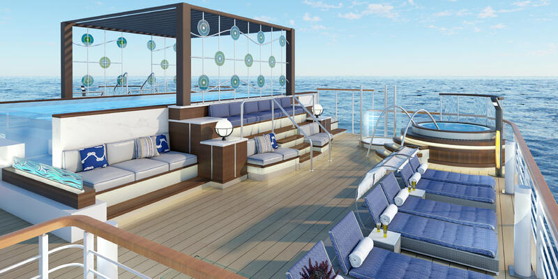 Sun Deck on Vantage's oceangoing cruise ship (Photo: Vantage Deluxe World Travel)
