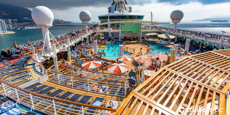 Zoom Background: The Main Pool on Independence of the Seas (Photo: Cruise Critic)
