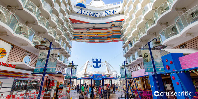 Zoom Background: The Boardwalk on Allure of the Seas (Photo: Cruise Critic)