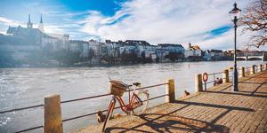 Bike on Walking Path Next to Rhine River (Photo: fotoliza/Shutterstock)