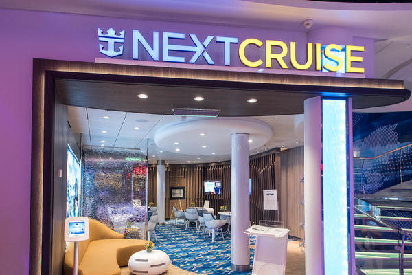 NextCruise booking kiosk on Harmony of the Seas (Photo: Cruise Critic)