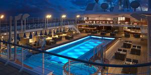 Silver Muse pool at night
