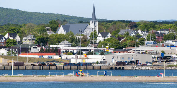North Sydney Town with St Joseph's Church in the Middle, Nova Scotia (Photo: Ramunas Bruzas/Shutterstock)
