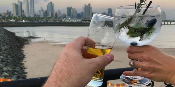 Drinks at Sunset (Photo: Gina Kramer)