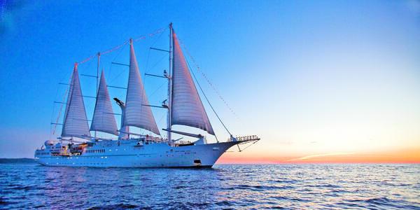 Wind Star at Sea (Photo: Windstar Cruises)