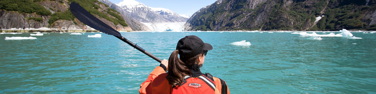 Kayaker in Alaska (Photo: Holland America)