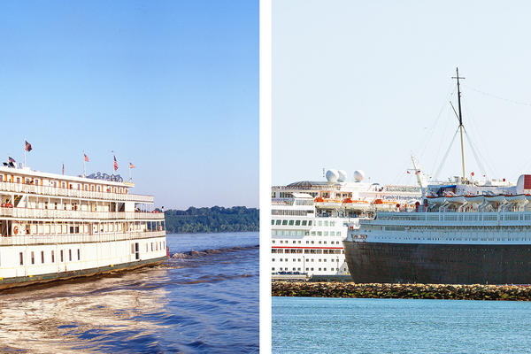 The Delta Queen & Queen Mary (Photo: Joseph Sohm & Philip Pilosian/Shutterstock)