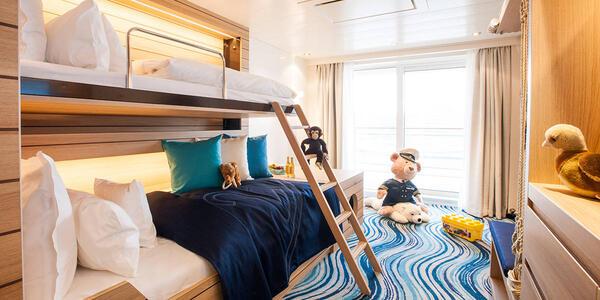 Hapag-Lloyd Cruises' Europa 2 Family Apartments (Photo: Hapag-Lloyd Cruises)