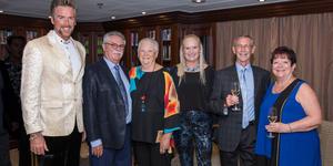 Eric De Gray (far left), Cruise Director for Azamara Club Cruises (Photo: Azamara Club Cruises)