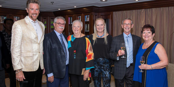 Eric De Gray (far left), Cruise Director for Azamara (Photo: Azamara)