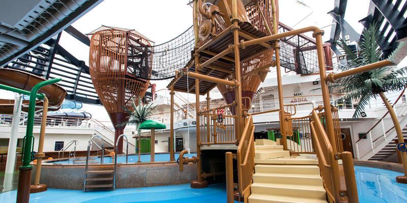Forest Aquaventure Park on MSC Seaside (Photo: Cruise Critic)