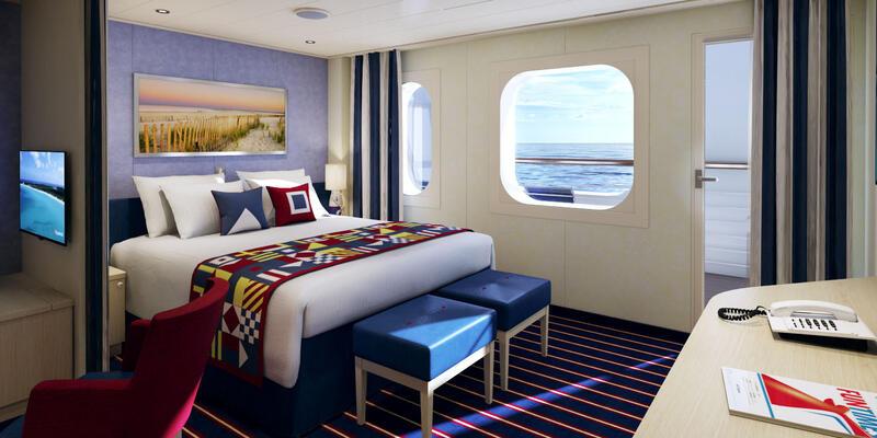 Family Harbor Cove Balcony Cabin (Photo: Carnival Cruises)