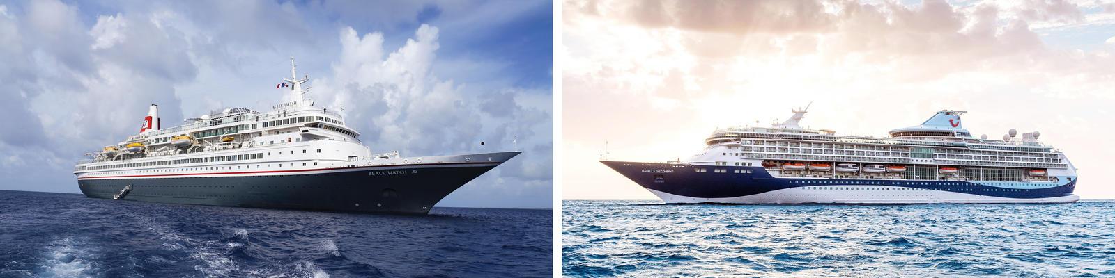 Black Watch & Marella Discovery 2 (Photo: Fred Olsen & Marella Cruises)